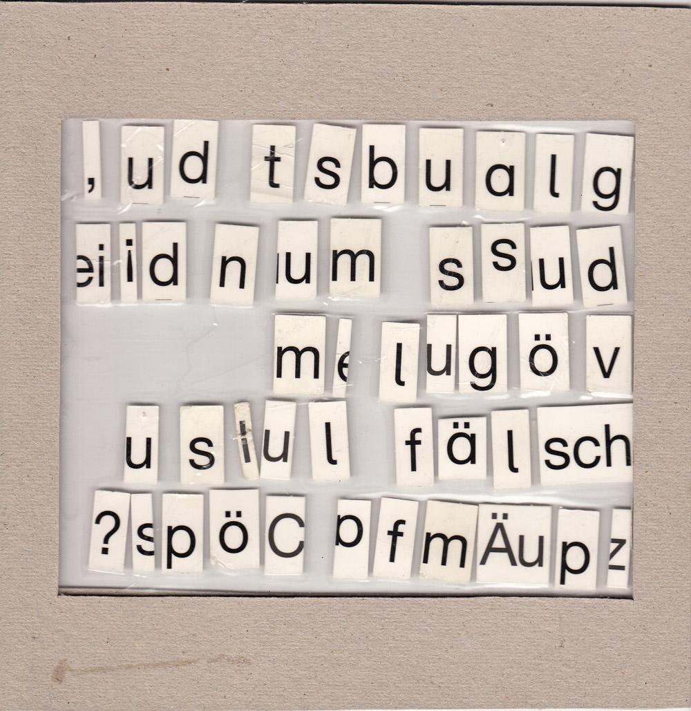 Fragestellung, seitenverkehrt 2, Collage, 2013