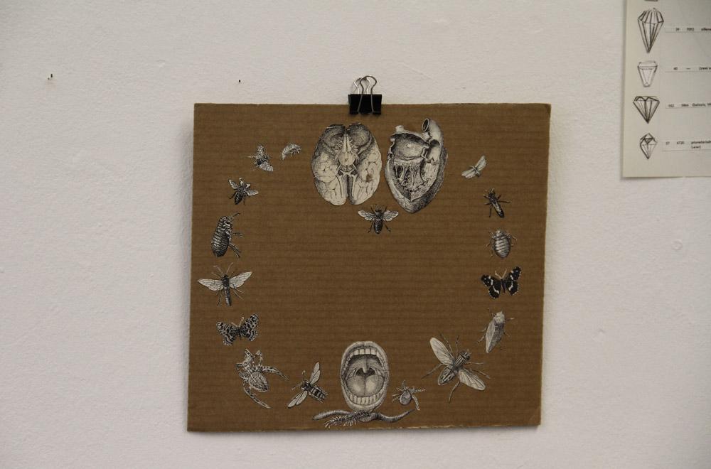 Dialog zwischen Herz und Hirn, Collage, 2013
