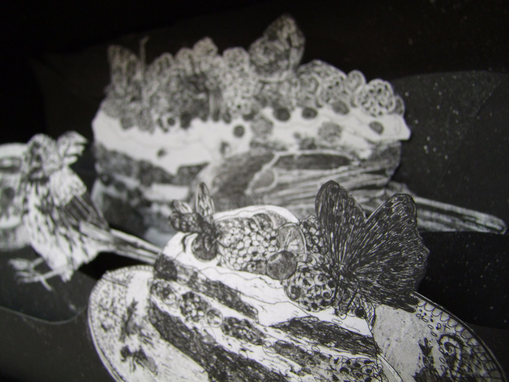 Vogelhochzeit, Radierung/Collage/3D Bild, 2013